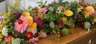 Natural Coffin Spray - Brunels Funeral Directors