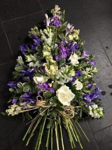 Purple & White Tied Sheaf