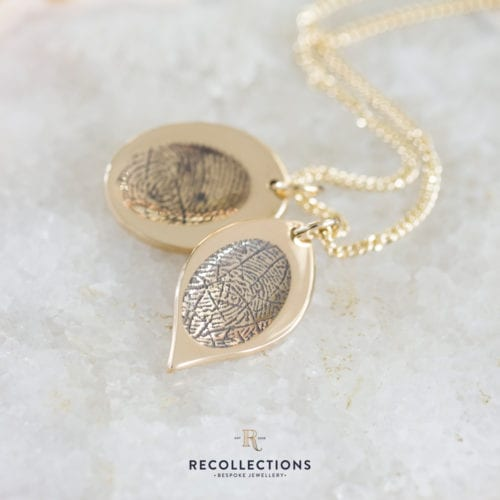 Gold Fingerprint Necklace - Brunels Funeral Directors