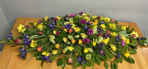 Mixed Spring Flowers - Brunels Funeral Directors