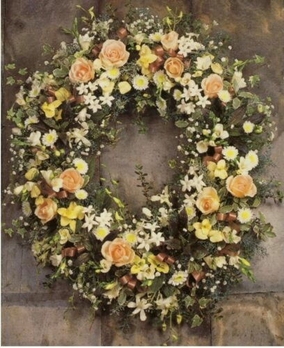 Pastel Wreath - Brunels Funeral Directors