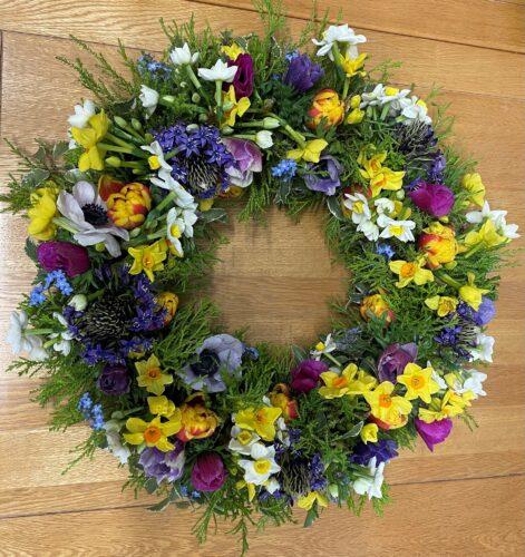 Spring Wreath - Brunels Funeral Directors