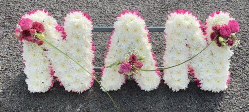 Nan Pink & White - Brunels Funeral Directors