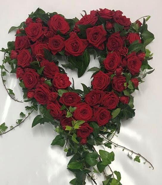 Open Heart Flower Display