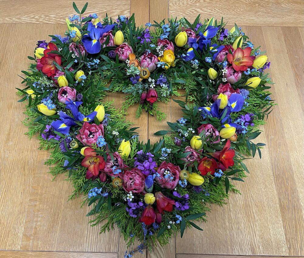Spring Heart Flower Arrangement