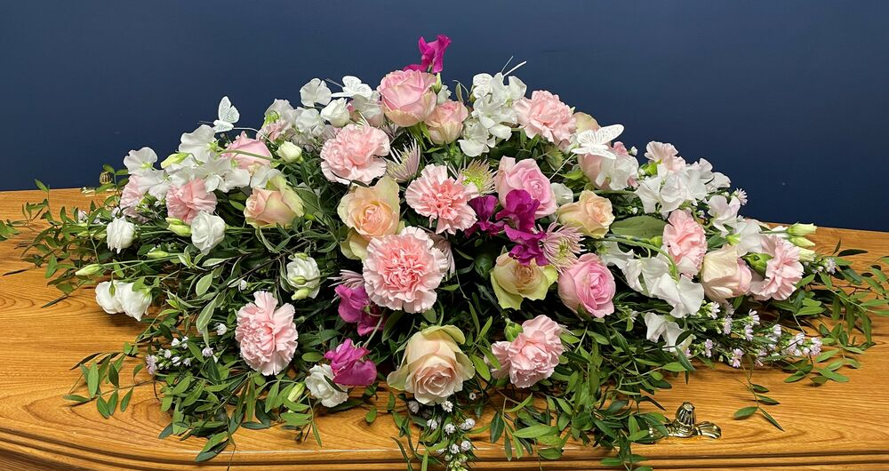 Sweet Pea and Carnation Flower Spray