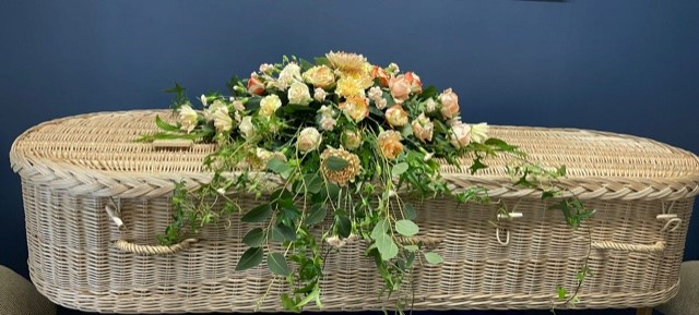 Natural Coffin Spray - Brunel Funeral Directors