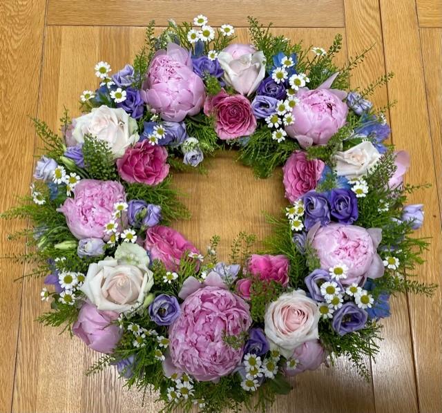 Peony Wreath - Brunel Funeral Directors